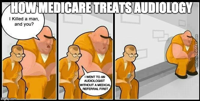 How medicare treats audiology.
