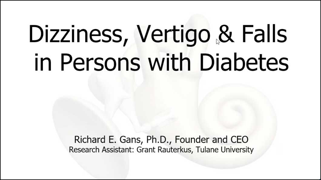 Dizziness, Vertigo and Falls in Persons with Diabetes
