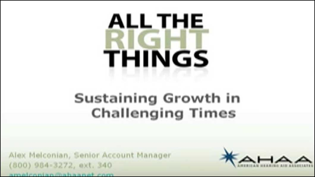 Sustaining Growth in Challenging Times